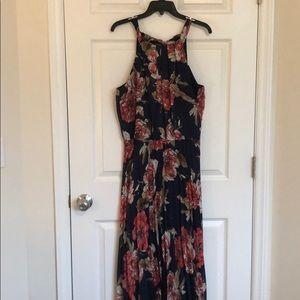 Formal floral maxi dress